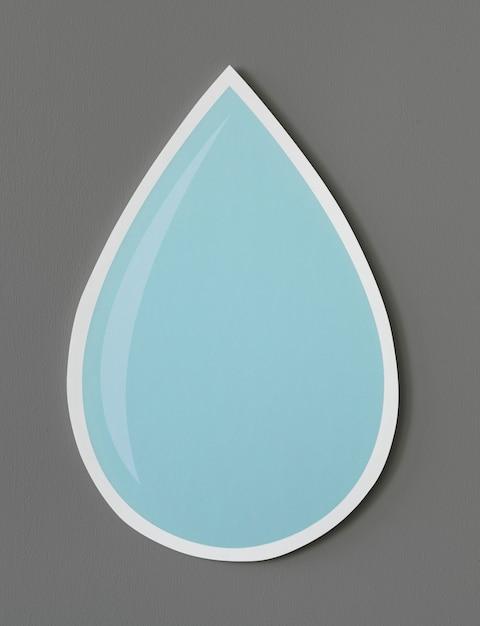 Icono de gota de agua cortada Foto gratis