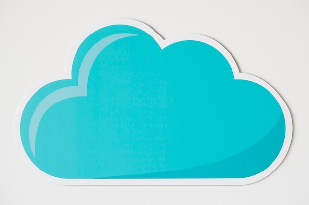 Icono de símbolo de tecnología de nube azul Foto gratis