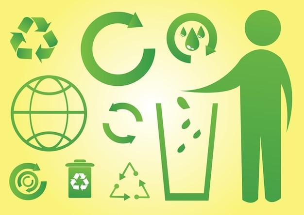iconos verdes del mundo