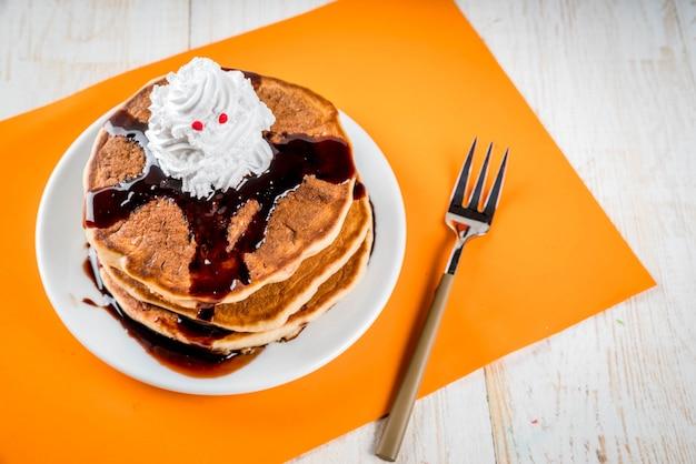 Ideas para el desayuno de los niños, golosinas para acción de gracias y halloween Foto Premium
