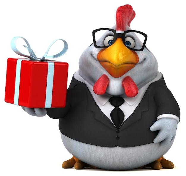Ilustración de pollo divertido Foto Premium