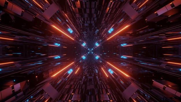 Ilustración de varias luces una al lado de la otra que fluyen hacia un solo punto Foto gratis