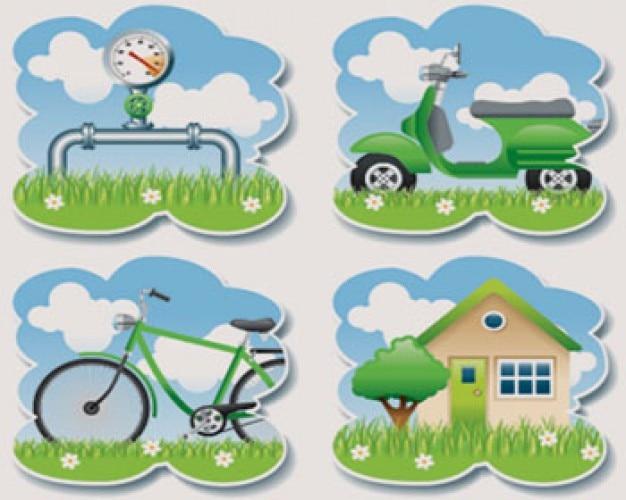ilustraciones de stock ecología verde temas
