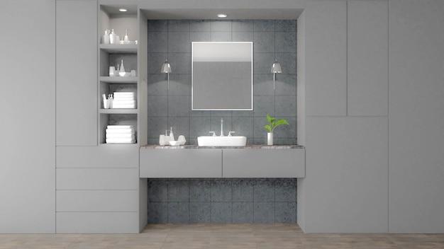 Imagen blanca moderna de la representación del cuarto de ...