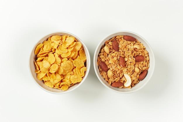 Ingredientes de desayuno de dieta saludable Foto Premium