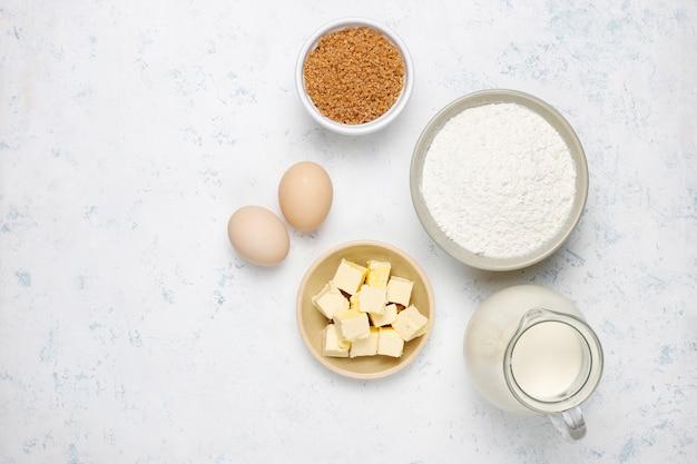 Ingredientes para hornear Foto gratis