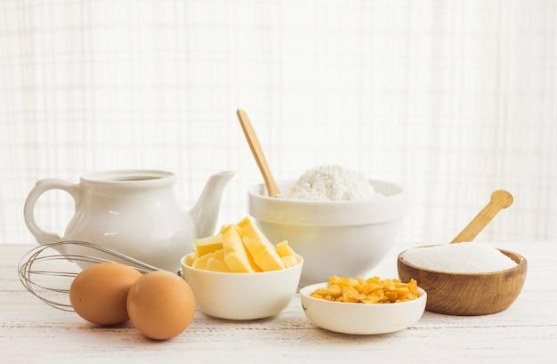 Ingredientes preparación masa Foto gratis