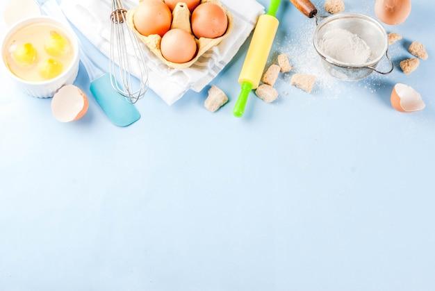Ingredientes y utensilios para cocinar. Foto Premium