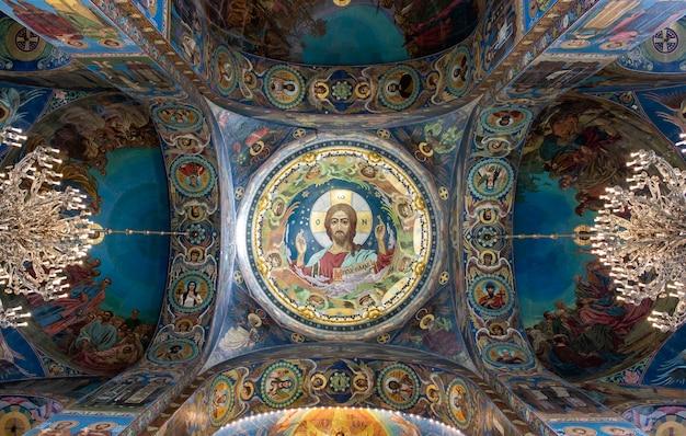 Interior de la catedral de san isaac en rusia. Foto Premium