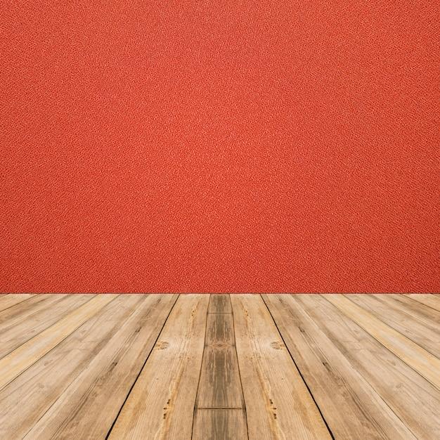 Interior de la habitación con pared de tela roja y fondo de piso de ...