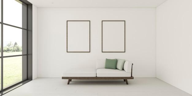 Interior minimalista con elegantes marcos. Foto Premium