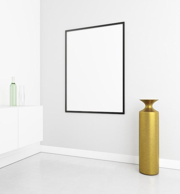 Interior minimalista con marco elegante. Foto gratis