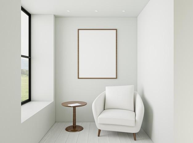 Interior minimalista con sillón elegante. Foto gratis