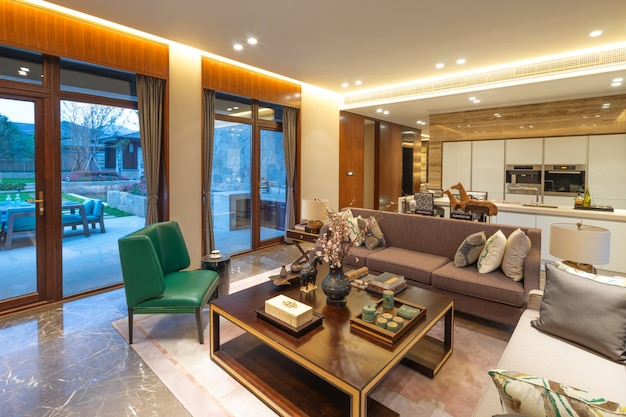 Interior de la sala de estar moderna. Foto Premium