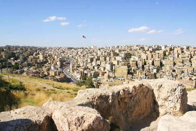 Jerash antiguo, ruinas de la ciudad grecorromana de gera en jordania Foto Premium