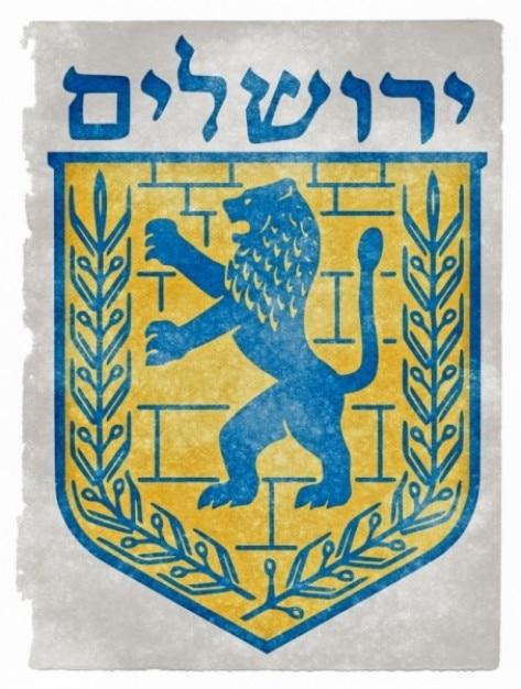 Jerusalem emblema del grunge Foto gratis