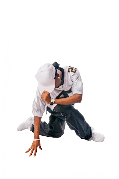 Joven bailarín de hip hop en blanco   Descargar Fotos gratis