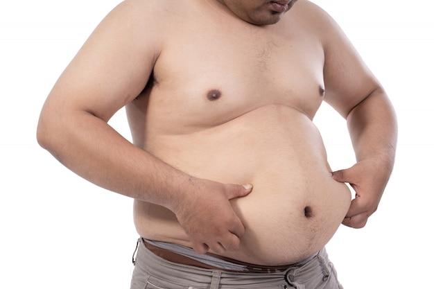 Tinder. Foreros medios hablando sobre técnicas de cortejo - Página 7 Joven-gordo-estresado-pellizca-exceso-grasa-cintura_8595-11311