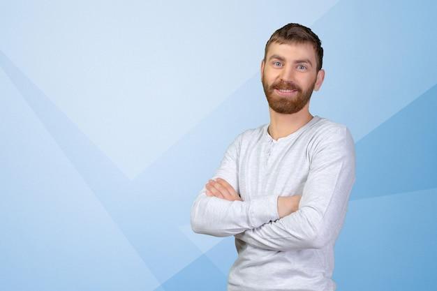 Joven guapo con gran sonrisa Foto Premium
