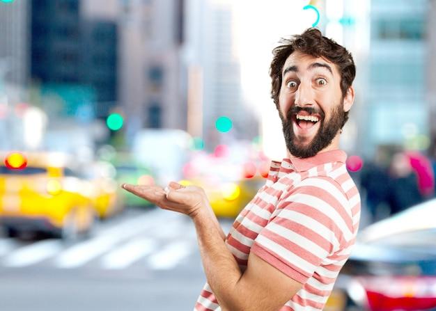 Joven loca sorprendió expresión Foto gratis