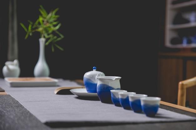 Juego de té chino Foto gratis