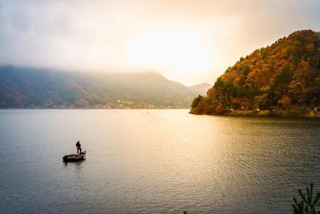 Kawaguchiko japón lago Foto gratis