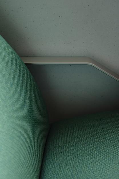 Un lado de una silla verde Foto gratis