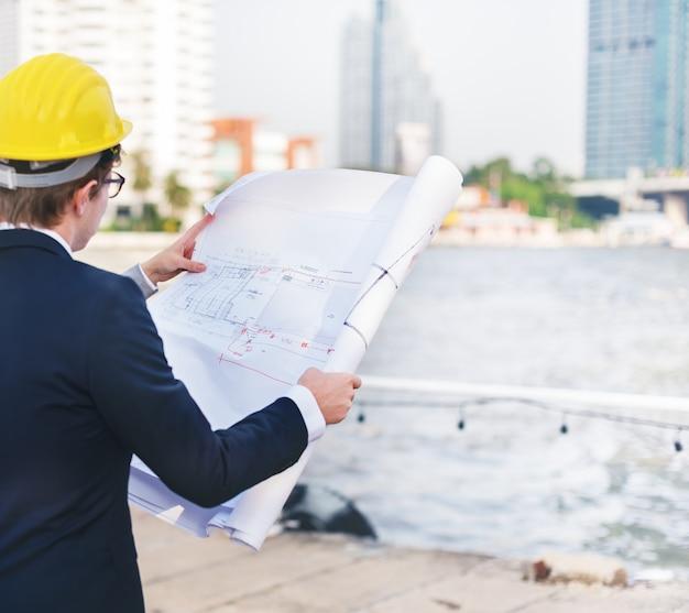 Lanzamiento de diseño de construcción de negocios Foto Premium