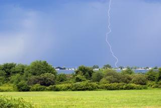 las tormentas eléctricas de huelga Foto Gratis