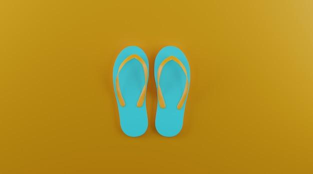 Lat lay flip-flops con espacio de copia. Foto Premium