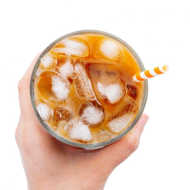 Latte de hielo aislado. Foto Premium
