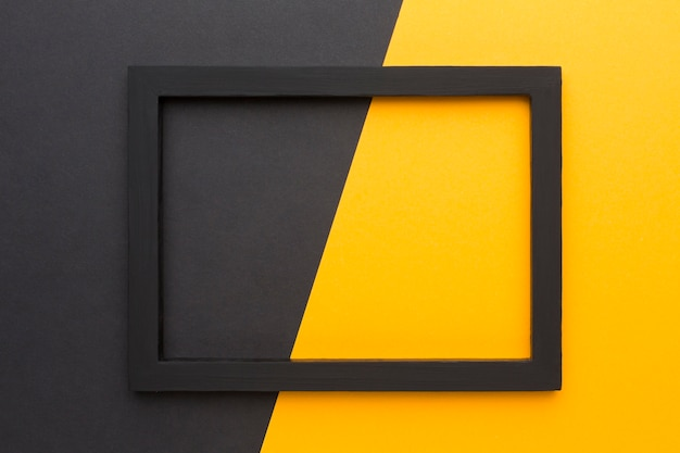 Lay flat de marco negro con espacio de copia Foto Premium