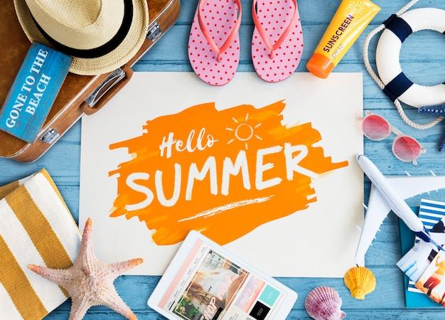 Layout de verano Foto Premium