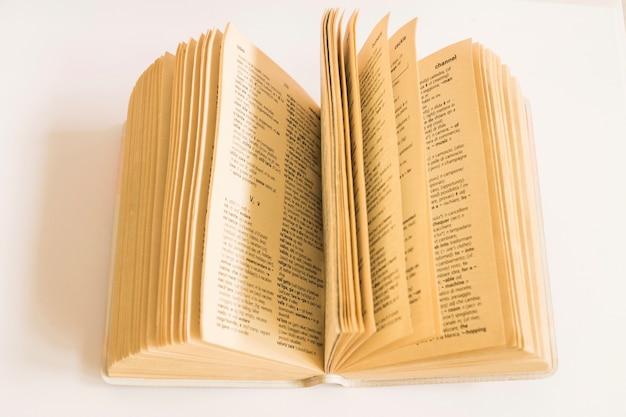 Libro con páginas viejas en blanco Foto gratis