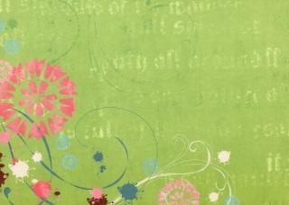Libro Verde de flores con textura Foto Gratis