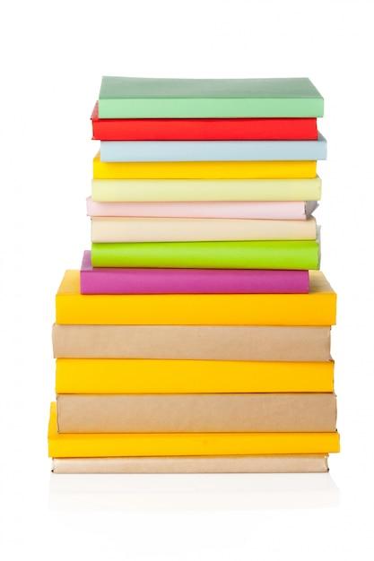 Libros aislados en blanco Foto Premium