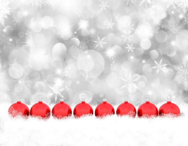 L nea de bolas rojas de navidad descargar fotos gratis - Bolas de navidad rojas ...