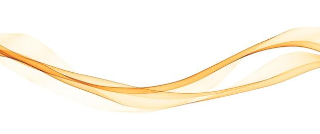 Líneas abstractas de onda suave amarilla Foto gratis
