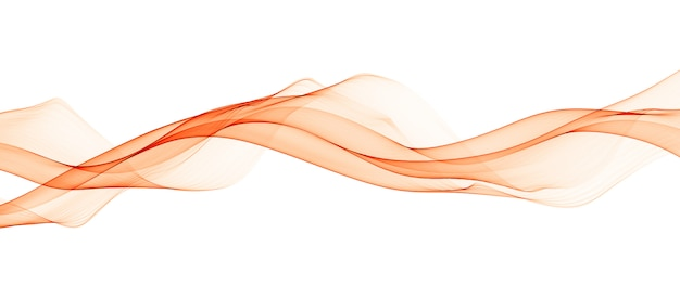 Líneas abstractas de onda suave naranja Foto gratis