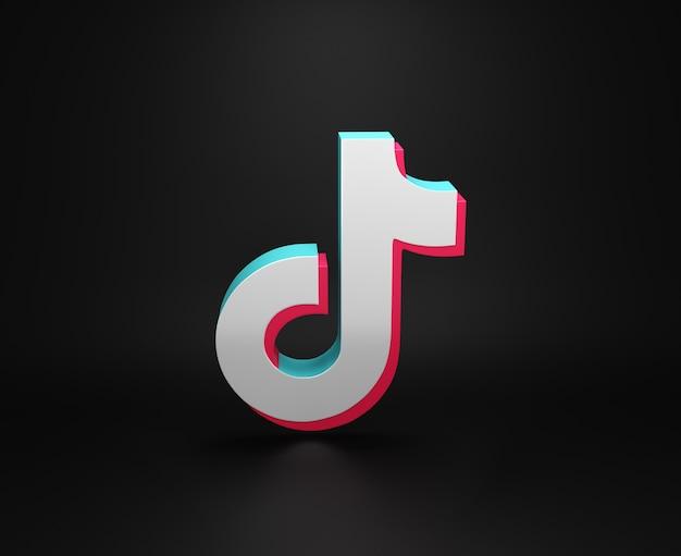 Logotipo de la aplicación tik tok diseño minimalista simple Foto Premium