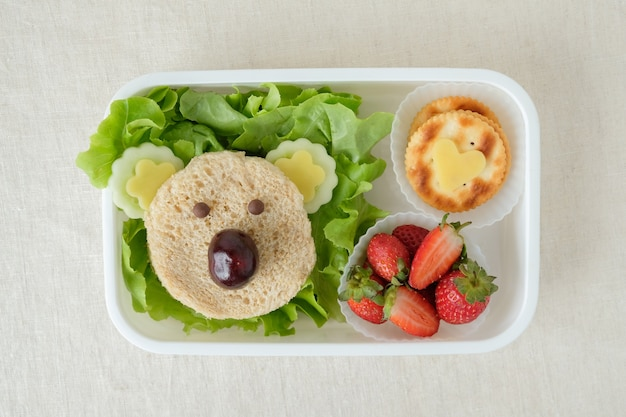 lonchera-oso-koala-arte-comida-divertida