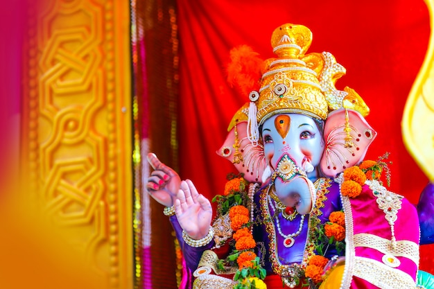 Lord ganesha, festival indio de ganesh Foto Premium