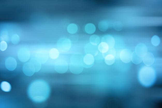 Luces Borrosas Sobre Fondo Azul O Luces Sobre Fondo Azul
