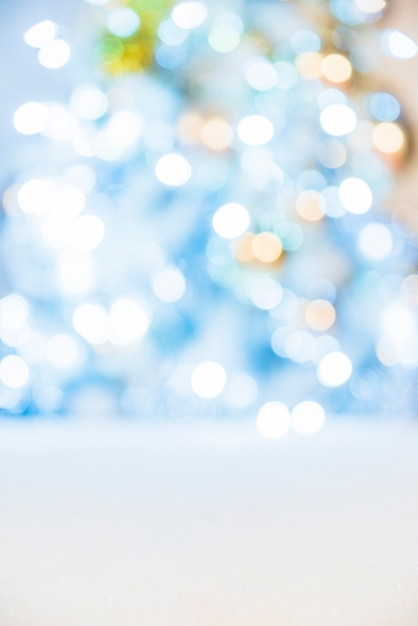 Luces brillantes en azul Foto gratis