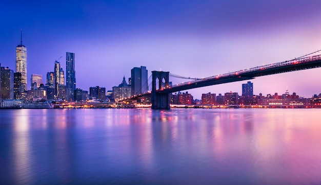 Luces de la ciudad de nueva york Foto Premium