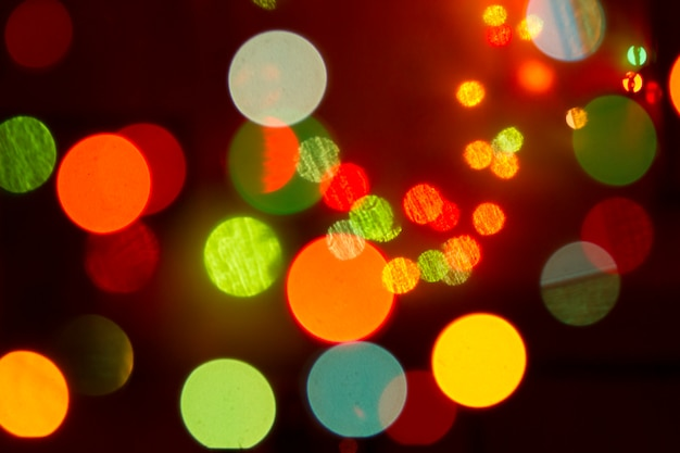 Luces de color bokeh brillo fondo desenfocado Foto Premium