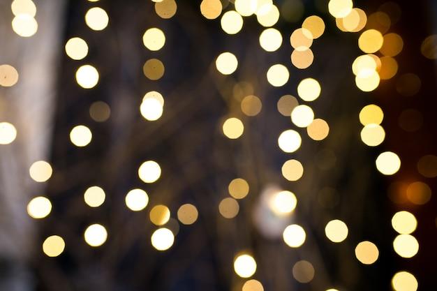 Luces De Navidad Borrosas De Fondo