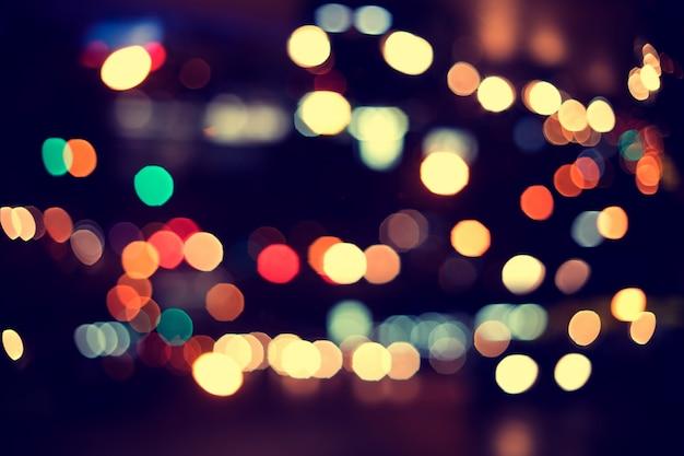 Luces De Navidad. Fondo De Bokeh Borrosa De Fiesta De