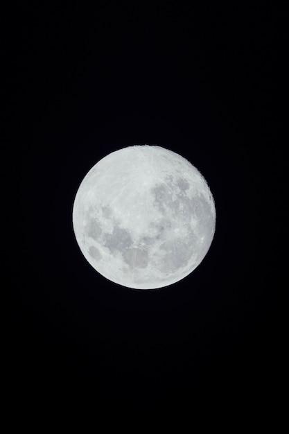 Luna llena sobre fondo oscuro Foto gratis
