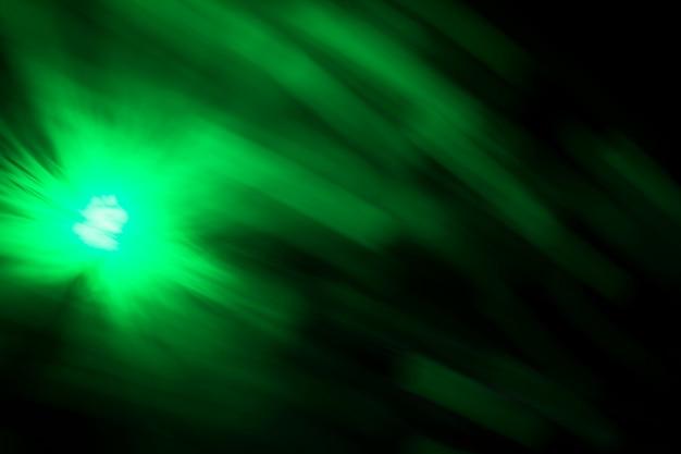 Luz de fibra de efecto de movimiento borroso verde Foto gratis
